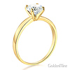 1-CT Round-Cut 4-Prong Solitaire CZ Engagement Ring in 14K Yellow Gold thumb 1