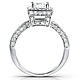 Vintage Style Halo Princess-Cut Diamond Engagement Ring 1ct TW - 14K White Gold thumb 3