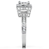 Vintage Style Halo Princess-Cut Diamond Engagement Ring 1ct TW - 14K White Gold thumb 2