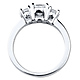 14K White Gold 3 Stone Princess Cut Bridal Engagement Ring 1.0ctw thumb 3