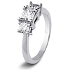 14K White Gold 3 Stone Princess Cut Bridal Engagement Ring 1.0ctw thumb 2