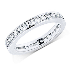 2mm 14K White Gold 1ctw Channel Set Round Diamond Eternity Ring