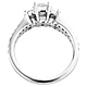 Split Shank 14K White Gold Diamond Engagement Ring 0.80 ctw thumb 3