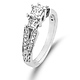 Split Shank 14K White Gold Diamond Engagement Ring 0.80 ctw thumb 1
