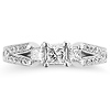 Split Shank 14K White Gold Diamond Engagement Ring 0.80 ctw thumb 2
