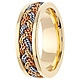 7mm Tricolor Braided Rope Men's Wedding Band - 14K Yellow Gold thumb 2