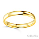 3mm Classic Light Comfort-Fit Dome Wedding Band - 10K, 14K, 18K Yellow Gold thumb 1