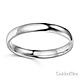 3mm Classic Light Comfort-Fit Dome Wedding Band - 10K, 14K, 18K White Gold thumb 1