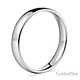 4mm Classic Light Comfort-Fit Dome Wedding Band - 10K, 14K, 18K White Gold thumb 2