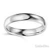4mm Classic Light Comfort-Fit Dome Wedding Band - 10K, 14K, 18K White Gold thumb 1