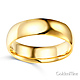 6mm Classic Light Comfort-Fit Dome Wedding Band - 10K, 14K, 18K Yellow Gold thumb 1