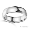 6mm Classic Light Comfort-Fit Dome Wedding Band - 10K, 14K, 18K White Gold thumb 1