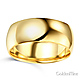 8mm Classic Light Comfort-Fit Dome Men's Wedding Band - 10K, 14K, 18K Yellow Gold thumb 1