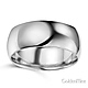 8mm Classic Light Comfort-Fit Dome Men's Wedding Band - 10K, 14K, 18K White Gold thumb 1