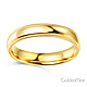 4mm Classic Light Comfort-Fit Dome Milgrain Wedding Band - 10K, 14K, 18K Yellow Gold thumb 1