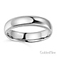 5mm Classic Light Dome Milgrain Wedding Band - 14K White Gold thumb 1