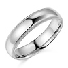 5mm Classic Light Dome Milgrain Wedding Band - 14K White Gold thumb 0