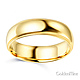 6mm Classic Light Dome Milgrain Wedding Band - 14K Yellow Gold thumb 1