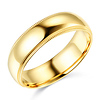 6mm Classic Light Dome Milgrain Wedding Band - 14K Yellow Gold thumb 0