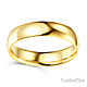 5mm Classic Light Dome Wedding Band - 14K Yellow Gold thumb 1