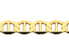 5.5mm 14K Yellow Gold Men's Flat Mariner Chain Necklace 20-24in thumb 1