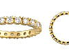 2.5mm Scalloped Prong CZ Eternity Ring in 14K Yellow Gold thumb 1