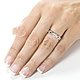 Split Shank 14K White Gold Diamond Engagement Ring 0.80 ctw thumb 4