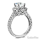 Antique-Style Halo 1-CT Princess CZ Engagement Ring in 14K White Gold 2ctw thumb 1