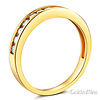 3mm 11 Channel-Set Round-Cut CZ Wedding Band in 14K Yellow Gold thumb 1