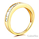 8-Stone Channel Princess CZ Wedding Band in 14K Yellow Gold 1.3ctw thumb 1
