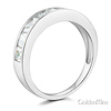 8-Stone Channel Princess CZ Wedding Band in 14K White Gold 1.3ctw thumb 1