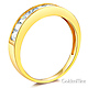 8-Stone Princess-Cut Channel-Set CZ Wedding Band in 14K Yellow Gold 0.75ctw thumb 1