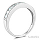 8-Stone Princess-Cut Channel-Set CZ Wedding Band in 14K White Gold 0.75ctw thumb 1