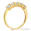 5-Stone Basket Prong Round CZ Wedding Band in 14K Yellow Gold 1.1ctw thumb 1