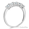 5-Stone Basket Prong Round-Cut CZ Wedding Band in 14K White Gold - 1.1ctw thumb 1