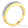 Two-Row Pave Round CZ Wedding Band in Two-Tone 14K Yellow Gold 0.45ctw thumb 1