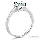 1-CT Basket Prong Princess-Cut Solitaire CZ Engagement Ring in 14K White Gold thumb 1