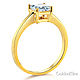 1-CT Basket Prong Princess-Cut Solitaire CZ Engagement Ring in 14K Yellow Gold thumb 1