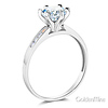 Cathedral-Set 1-CT Round-Cut CZ Engagement Ring in 14K White Gold thumb 1