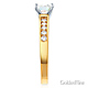 Cathedral-Set 1-CT Round-Cut CZ Engagement Ring in Two-Tone 14K Yellow Gold thumb 2