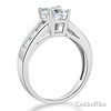 Channel & Basket-Set Princess-Cut CZ Engagement Ring in 14K White Gold thumb 1