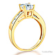 1-CT Princess-Cut & Channel Side CZ Engagement Ring in 14K Yellow Gold thumb 1