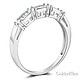 1.25 CT Round-Cut & Baguette CZ Wedding Ring Set in 14K White Gold 2ctw thumb 5