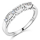 1.25 CT Round-Cut & Baguette CZ Wedding Ring Set in 14K White Gold 2ctw thumb 4
