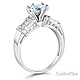 1.25 CT Round-Cut & Baguette CZ Wedding Ring Set in 14K White Gold 2ctw thumb 2