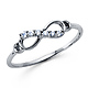 Sparkling CZ Infinity Ring in 14K White Gold thumb 1