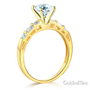 1-CT Round-Cut & Side Baguette CZ Wedding Ring Set in 14K Yellow Gold thumb 2