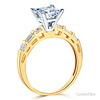 1.25 CT Princess-Cut & Side Baguette CZ Wedding Ring Set in 14K Yellow Gold thumb 2