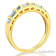 1.25 CT Princess-Cut & Side Baguette CZ Wedding Ring Set in 14K Yellow Gold thumb 5