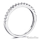 Squared Halo Baguette & Round-Cut CZ Wedding Ring Set in 14K White Gold thumb 5